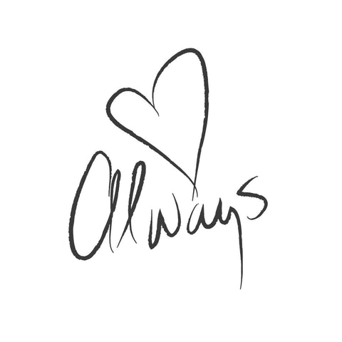 wall quotes wall decals - Love Always | lifestyle