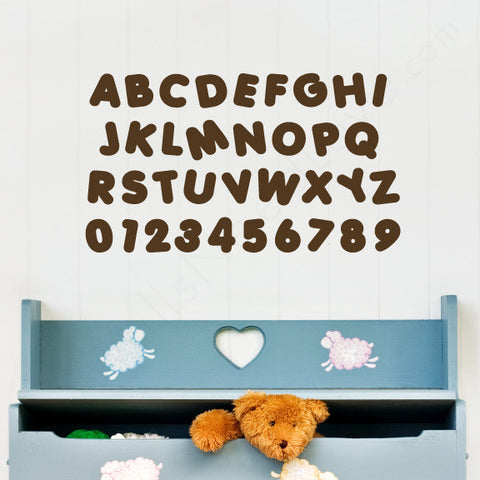 Nursery Mount wall decals - Alphabet & Numbers