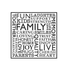 wall quotes wall decals - FAMILY Word Collage | lifestyle