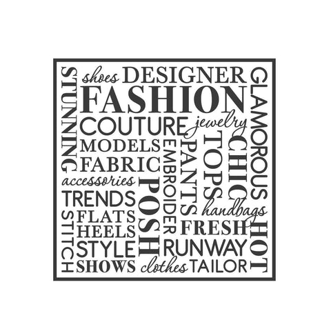 wall quotes wall decals - FASHION Word Collage | lifestyle