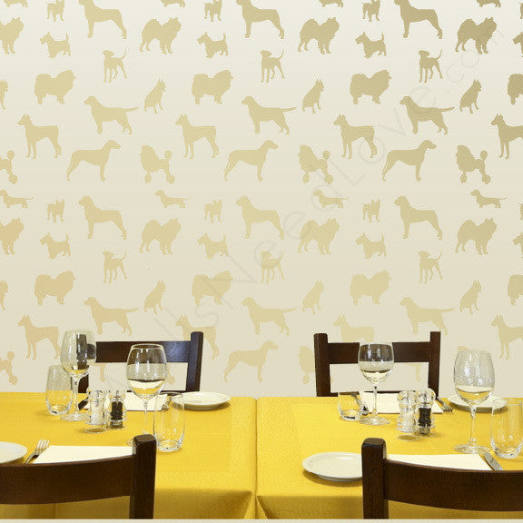 "Dog Silhouettes for Myquillyn of ""The Nesting Place"" Adhesive Print Mount wall decal!"