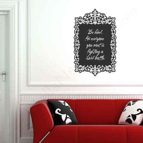 Antique Chalkboard Frame on wall!