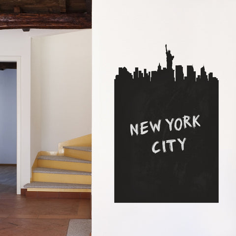 New York Chalkboard Skyline wall decal