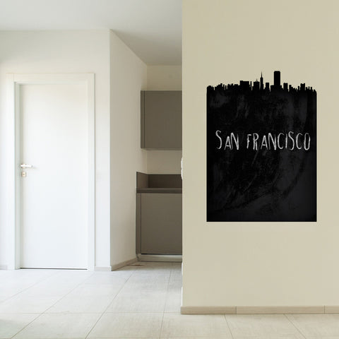 San Francisco Skyline Chalkboard wall decal