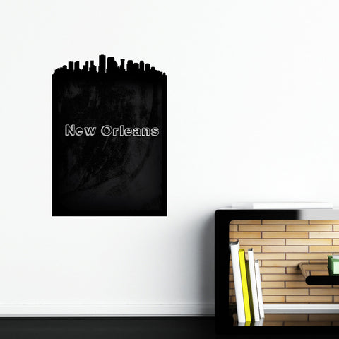 New Orleans Skyline Chalkboard wall decal