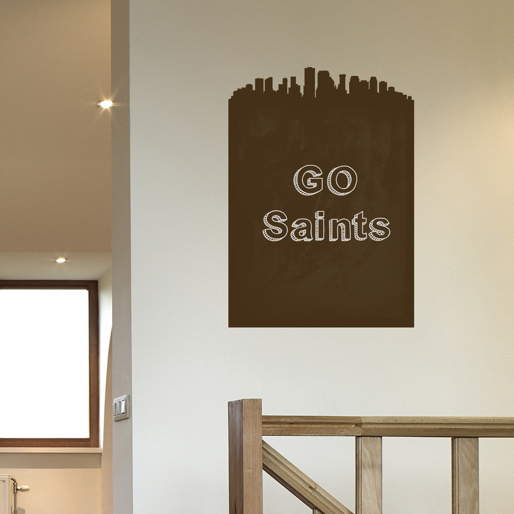 New Orleans Skyline Chalkboard wall decal on wall