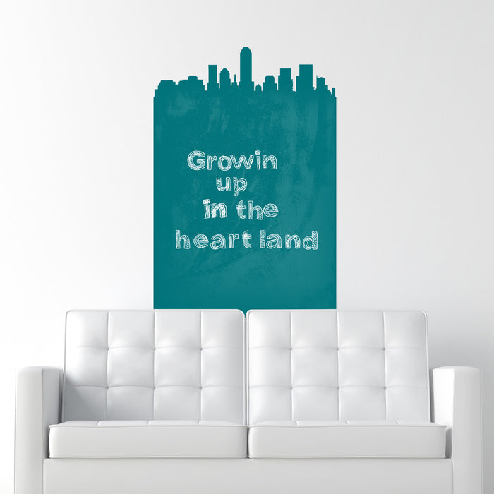 Indianapolis Skyline Chalkboard wall decal on wall
