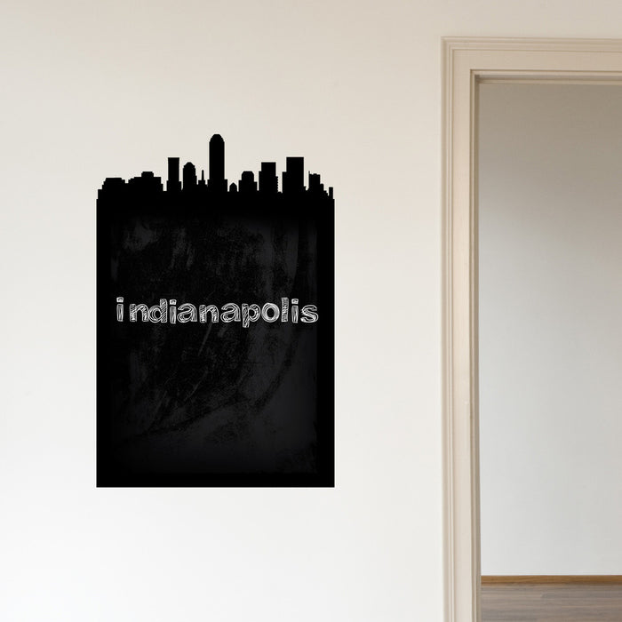 Indianapolis Skyline Chalkboard wall decal