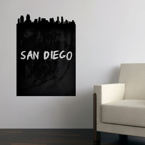 San Diego Skyline Chalkboard wall decal