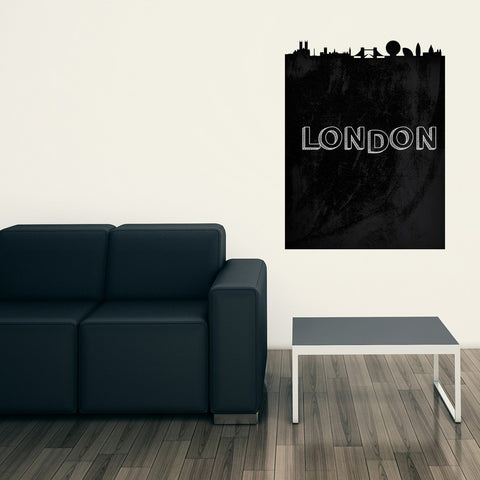 London Chalkboard Skyline wall decal
