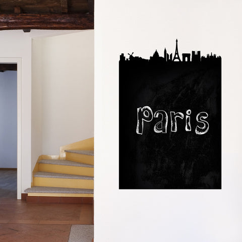 Paris Chalkboard Skyline wall decal