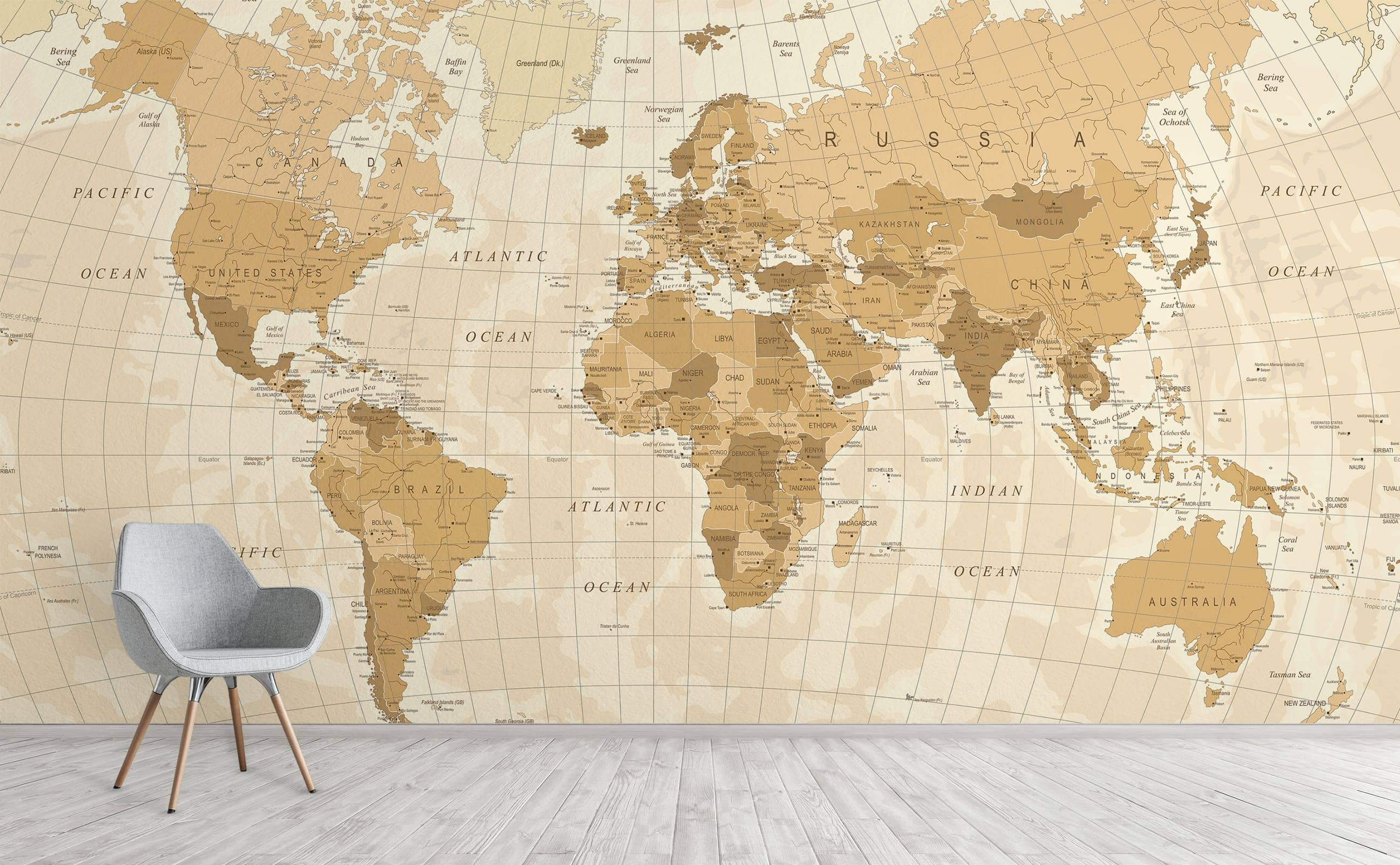 Picture of: Fuel Exploration With World Maps Wall Mural Collection