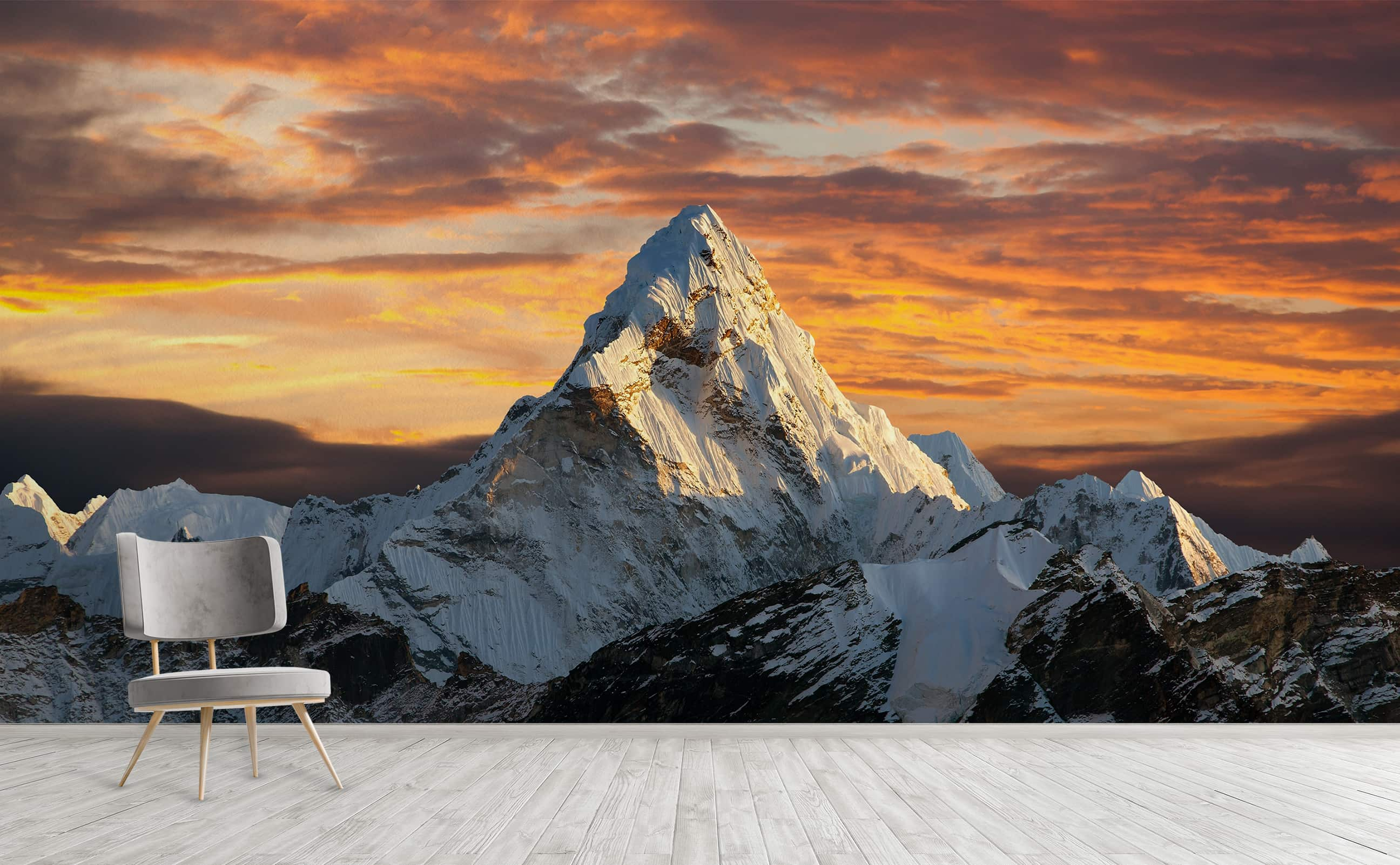 Himalayas Mount Everest Panoramic Sunset Landscape Wall Mural Everest