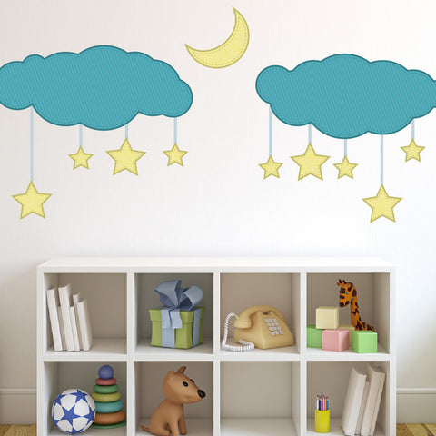 Nursery wall decal - Dreamy Stars Mount wall decal!!