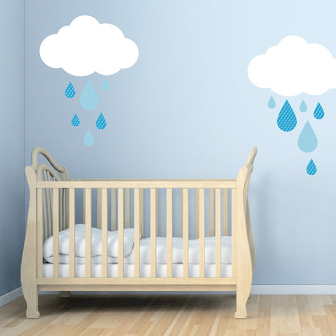 Nursery Mount wall decals - Sweety Rain Drops