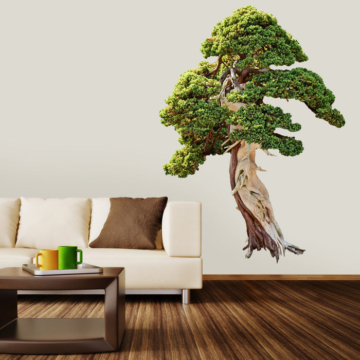 Twisty Tree wall decal on wall behind couch!