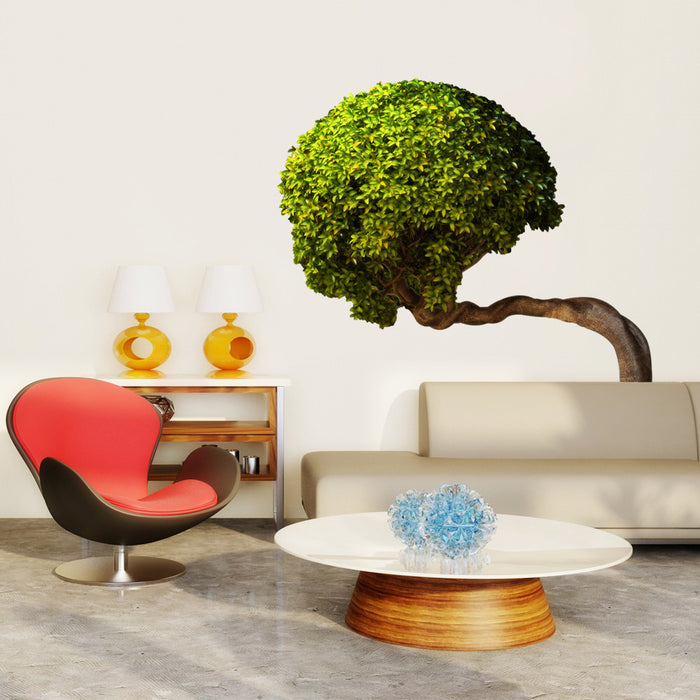 Bowing Tree wall decal on wall behind couch!