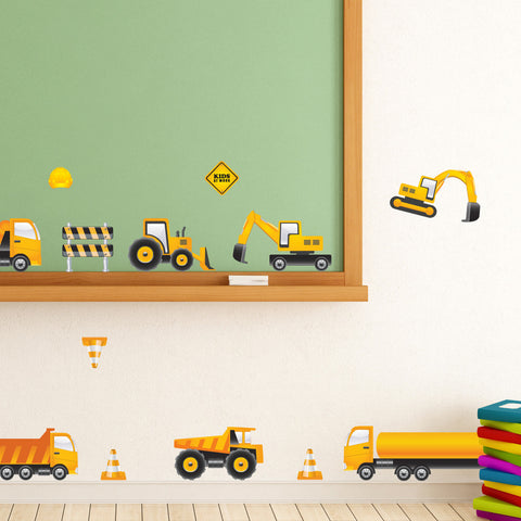 Nursery wall decals - Caution: Kids at Work Mount wall decal
