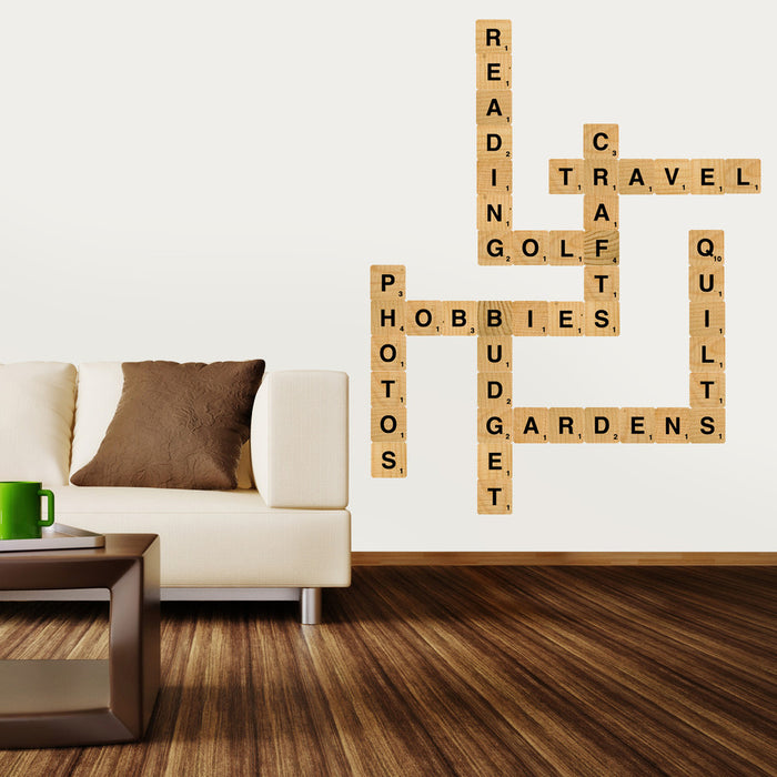 Nursery Mount wall decals - Letter Blocks on wall!!