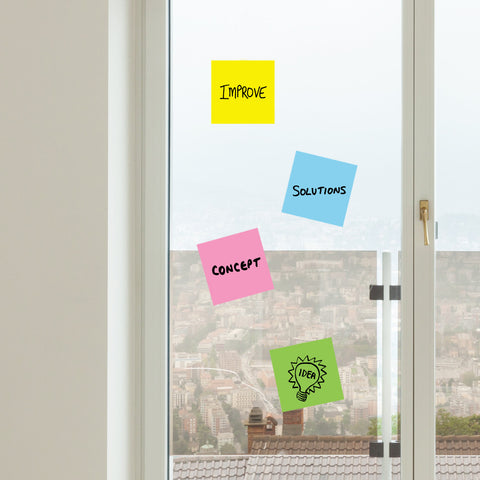 Colored Sticky Note Dry Erase wall decal | Writables