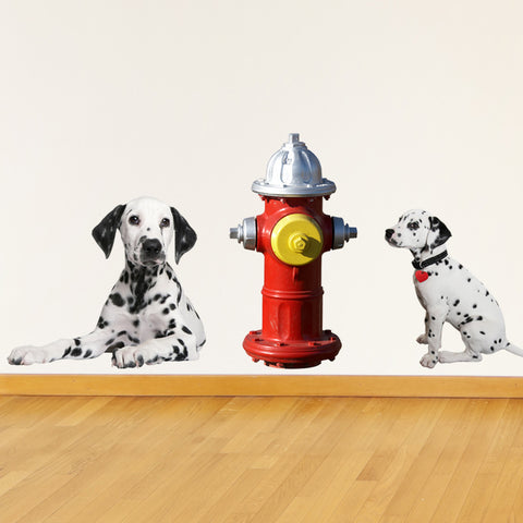 Nursery wall decal - Dalmatians & Fire Hydrant Mount wall decal!