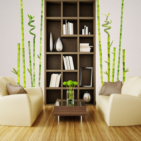 wall decal - Bamboo Garden on wall!