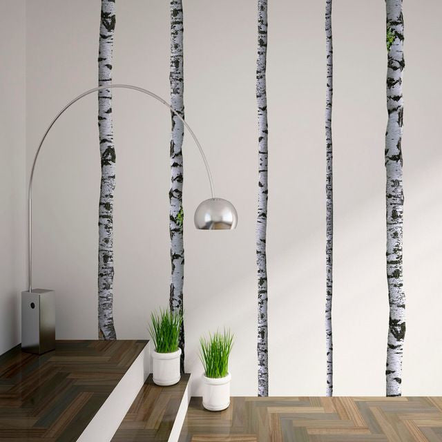Wall Mount Decals - Super Real Birch Trees