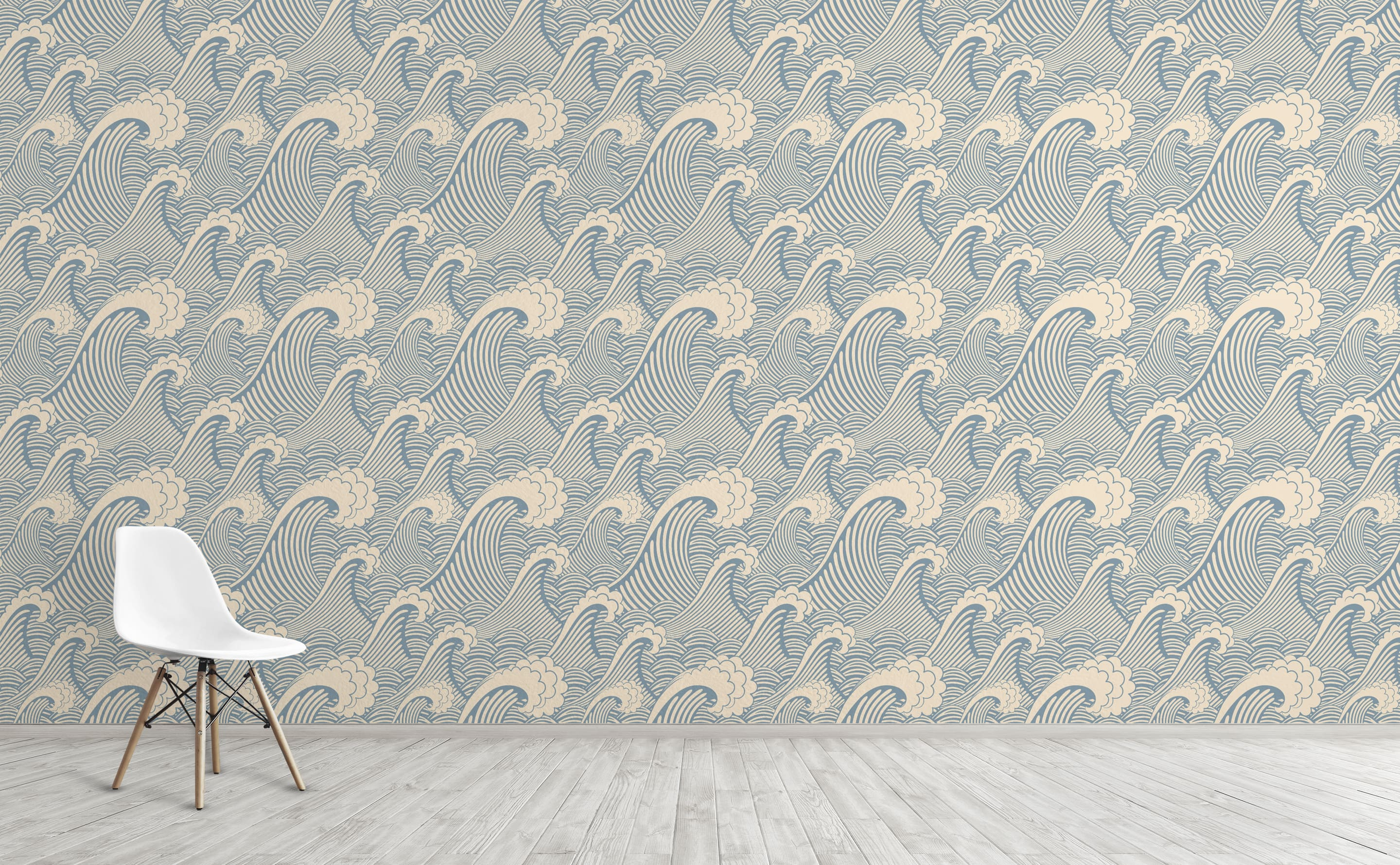 w0263 1s Nautical Waves Wallpaper for Walls Waves of Chic For Interior Walls 1