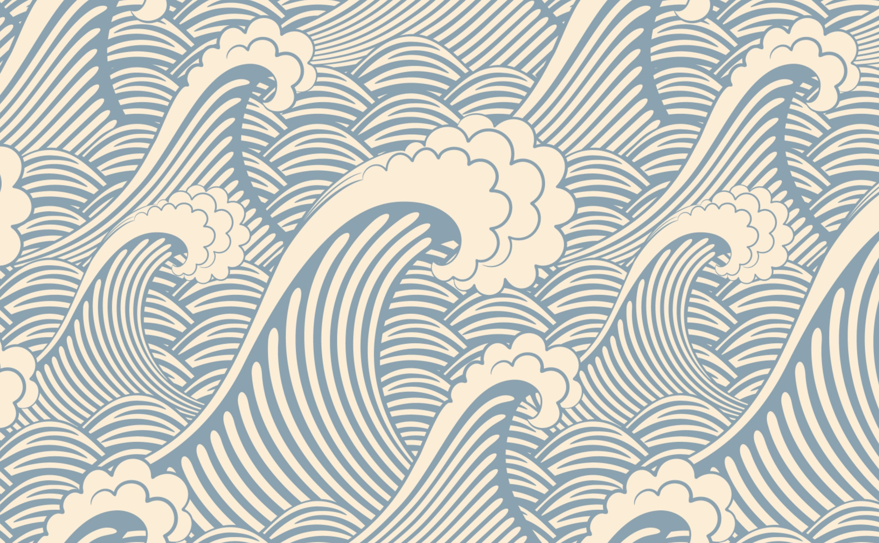 w0263 1s Nautical Waves Wallpaper for Walls Waves of Chic Repeating Pattern Sample 1