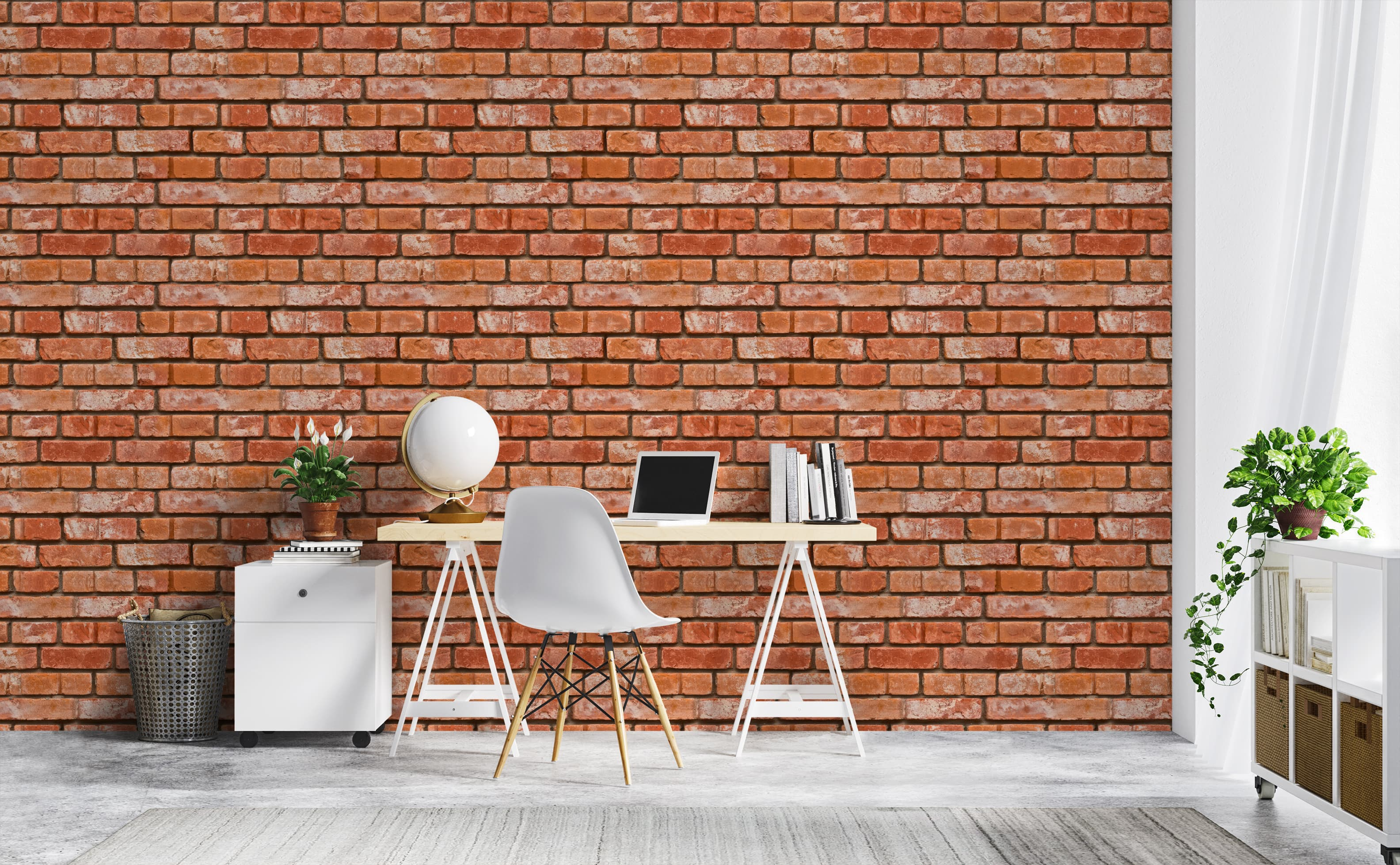 w0267 1s Realistic Bricks Removable Peel and Stick Wallpaper For Home Offices 1