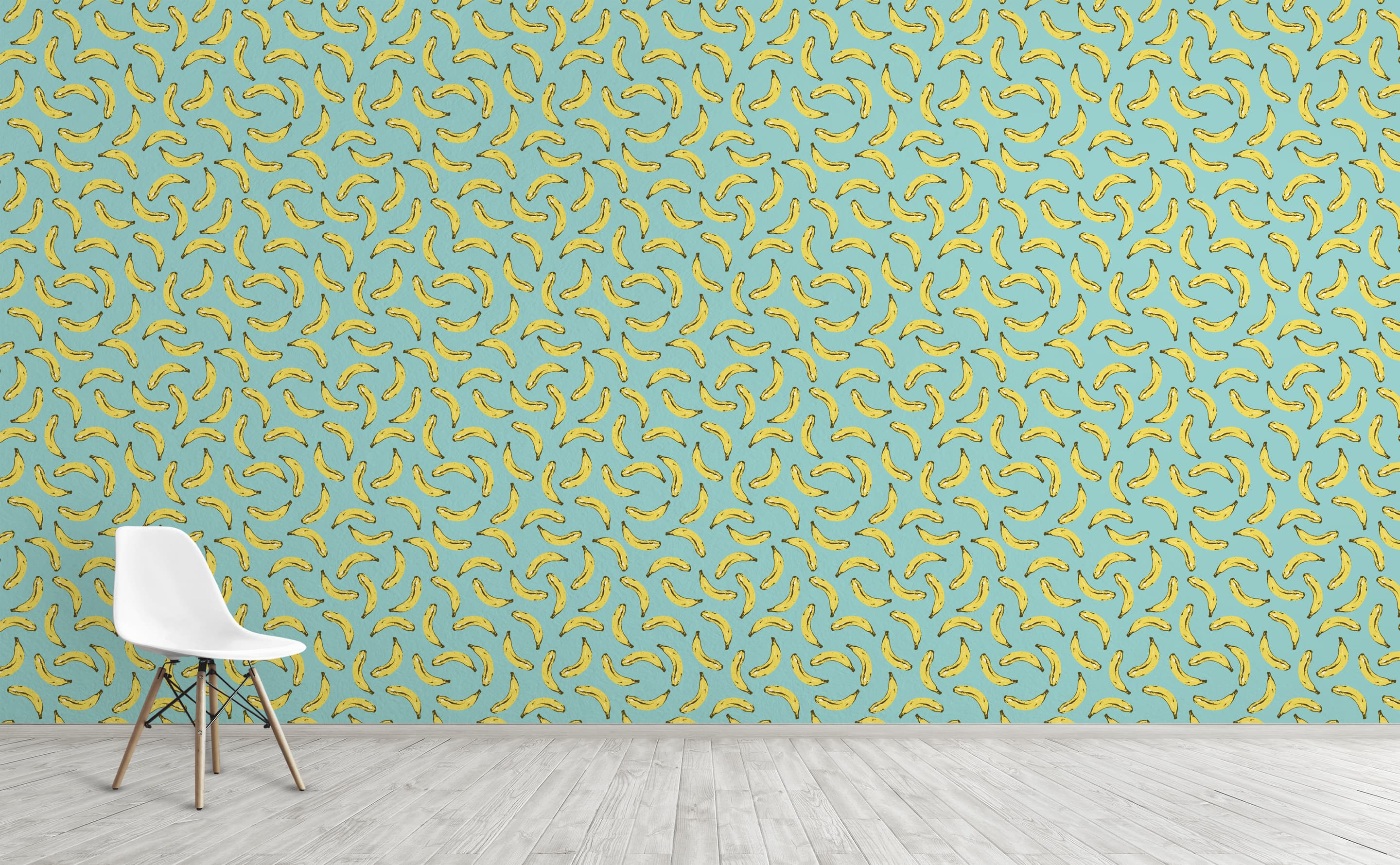 w0275 1s Velvet Bananas Removable Peel and Stick Wallpaper For Interior Walls 1