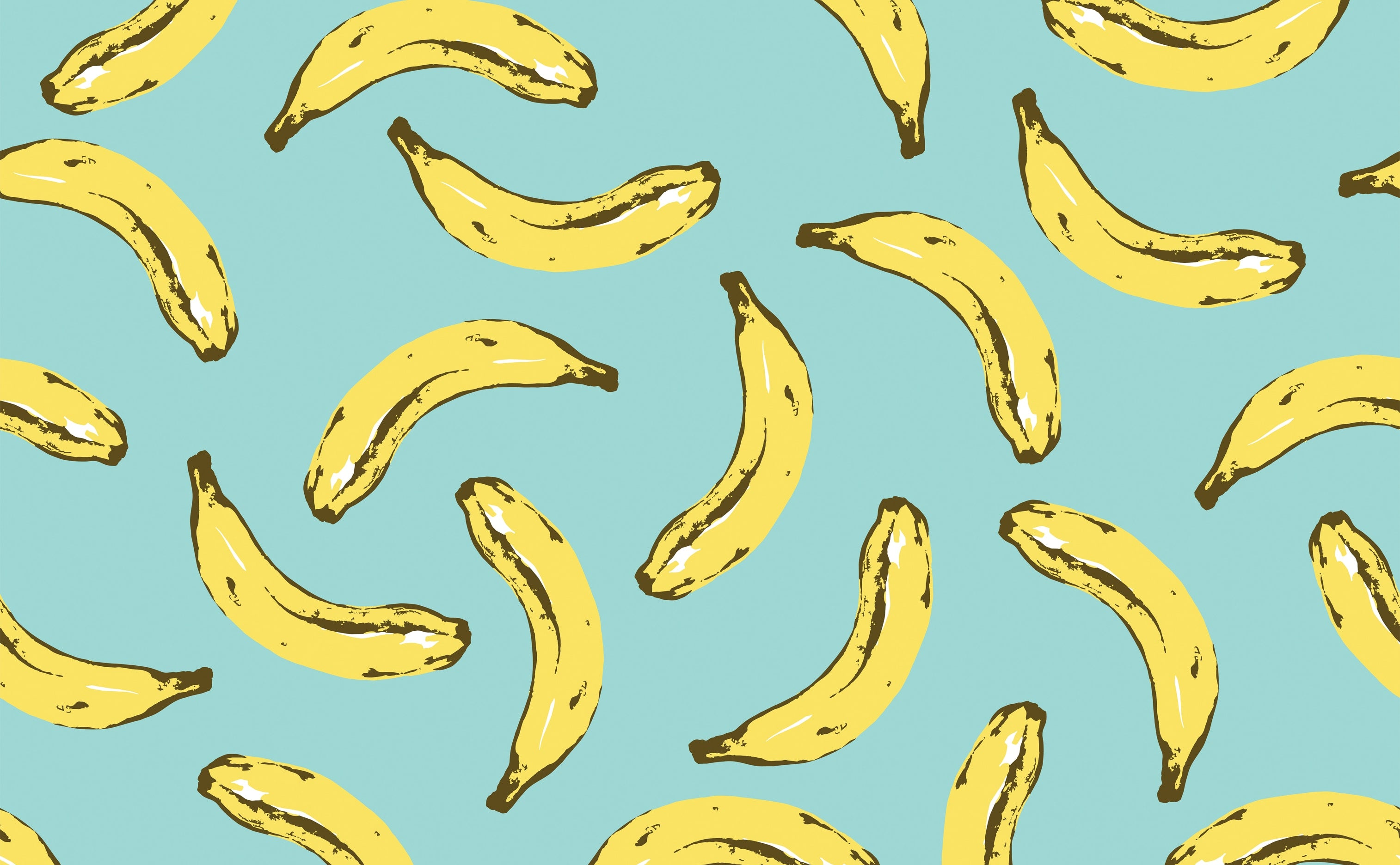 w0275 1s Velvet Bananas Removable Peel and Stick Wallpaper Repeating Pattern Sample 2