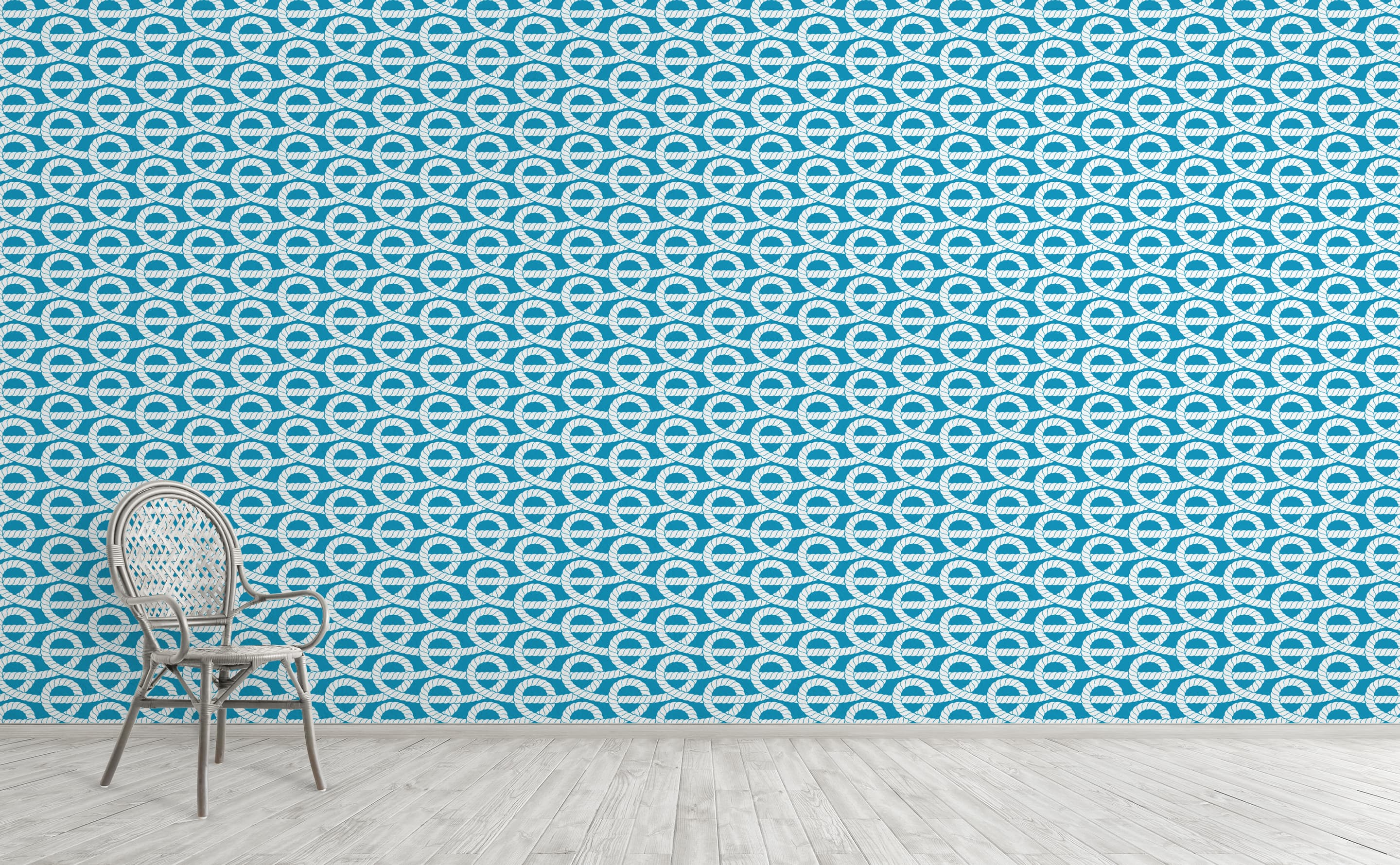 Nautical Rope Loops Wallpaper For Walls Captain Ron
