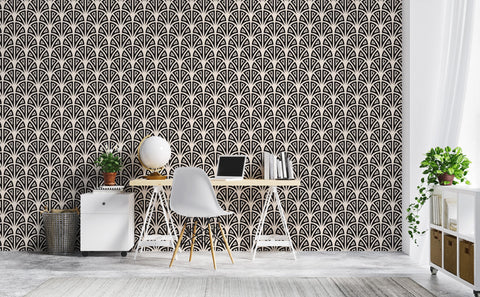 Unflappable Art Deco Arches Wallpaper