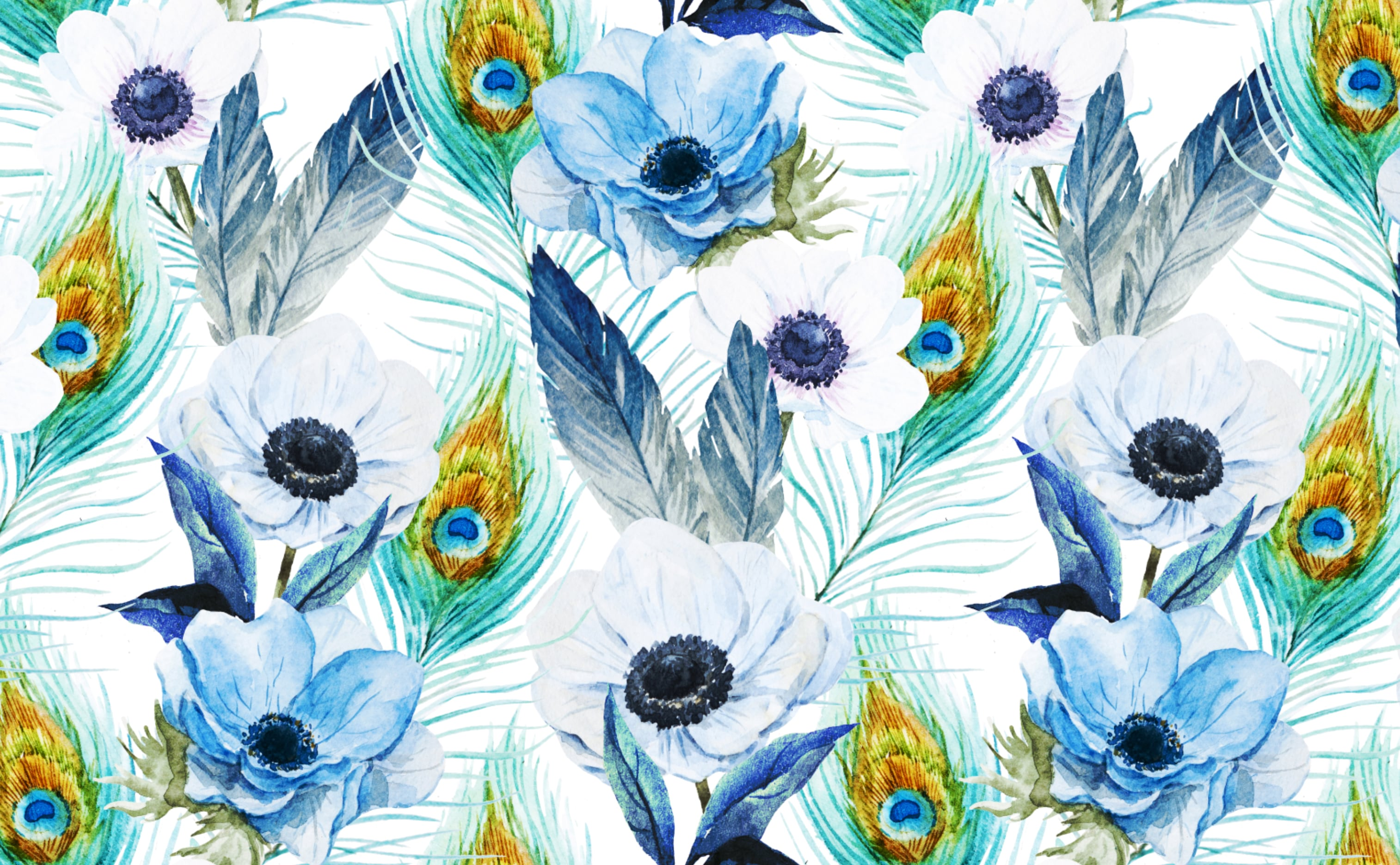 w0487 1s Poppies and Peacocks Removable Peel and Stick Wallpaper Repeating Pattern Sample 1 6c351a5e 1c7e 461a 90e3 8641d8d15658