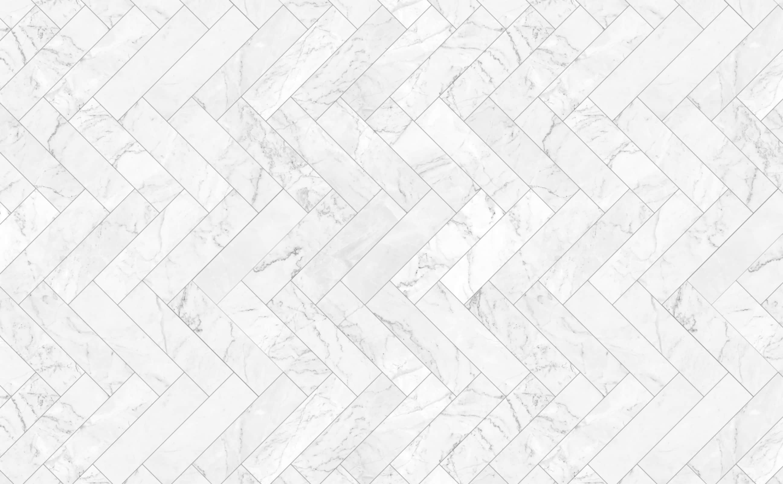 w0562 1s Carrara herringbone polished marble tile wallpaper Classic Concept Repeating Pattern Sample 1