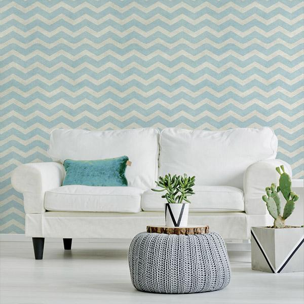 Striped and Chevrons Wallpapers Peel and Stick Removable