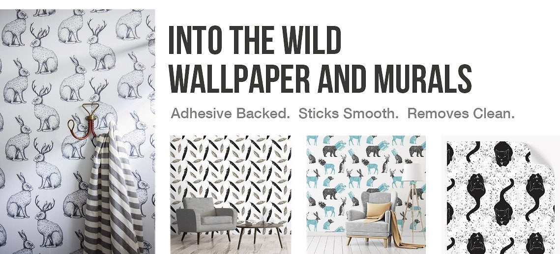 Animal Removable Wallpaper | Cool Wildlife Designs by