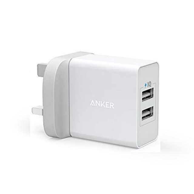 24W 2-Port USB Wall Charger