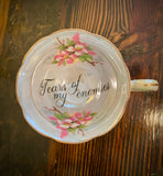 Tears of my enemies |  Vulgar vintage Royal Aynsley orphan tea cup