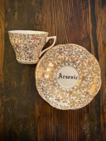 Arsenic | vulgar vintage royal bone china tea cup and saucer