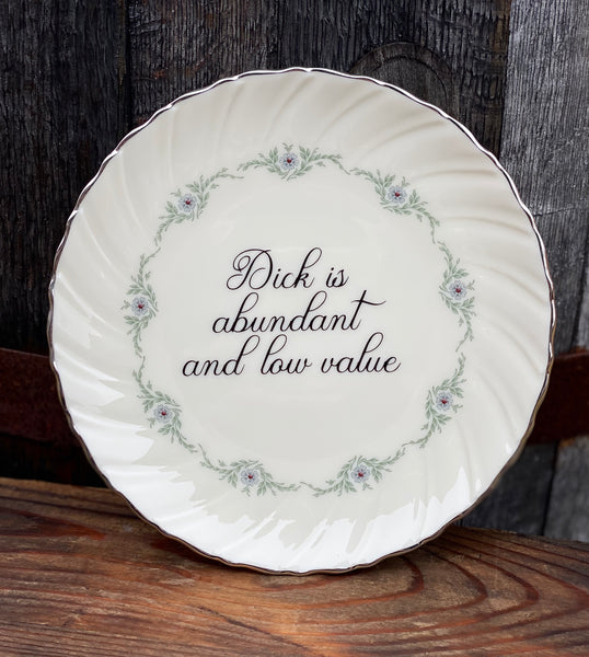 Dick is abundant and low value. | vulgar vintage Musette by Lenox salad plate