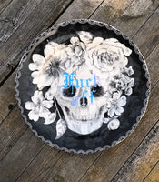 Fuck off | Vulgar vintage style 10 in decorative dinner plate