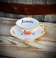 Arsenic | vulgar vintage bone china tea cup and saucer