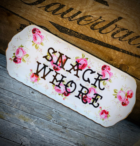 SNACK WHORE | vulgar appetizer dish/rolling tray