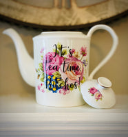 It's tea time, Bitches! | vulgar vintage style floral tea pot