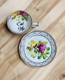 Eat Me | vulgar tea cup and matching saucer set