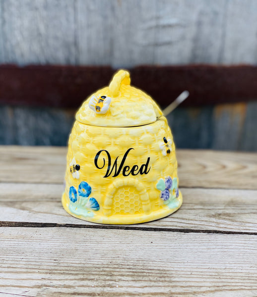 Weed | vulgar vintage style bee hive sugar bowl/stash box