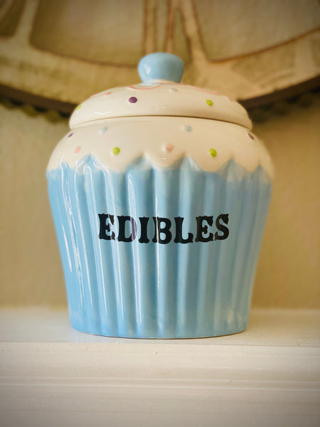 EDIBLES | vulgar vintage style oversized cupcake treat jar