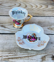 Whiskey | vulgar vintage china tea cup and saucer